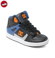 DC Shoes Rebound, Unisex Baby Krabbelschuhe, Schwarz (black/blue/white),  35 EU (3 UK) (*Partner-Link)