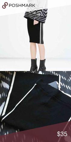 Zara Knit Skirt Knit,  stretchy material.  High wasted. Zara Skirts Midi