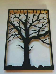 Black Tree, Wooden frame, Wall idea decor, Home design Tree Wall Decor, Unique Wall Decor, Room Wall Decor, Art Decor, Modern Wall Sculptures, Sculpture Metal, Tree Sculpture, Urban Decor, Metal Tree Wall Art