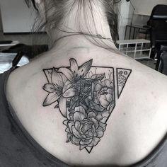 In-progress coverup #tattoo. Flowers!! - @mrdavidpoe