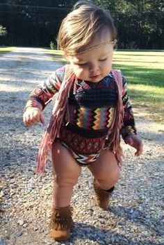 boho baby girl outfit - How adorable Baby Outfits, Outfits Niños, Kids Outfits, My Little Girl, My Baby Girl, Little Babies, Cute Babies, Hippie Baby Girl, Hippy Baby