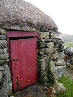 Farmhouse door in Connemarra Ireland