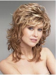 Hair Blonde Wavy Synthetic Perfect Medium Wigs, Real Hair Wigs Medium Length - Want Blonde Wavy Synthetic Perfect Medium Wigs? Wigsis offers various mid-length haircuts wigs, top quality with latest colors 100 Human Hair, Human Hair Wigs, Medium Hair Styles, Curly Hair Styles, Hair Medium, Raquel Welch Wigs, Real Hair Wigs, Layered Hair, Wavy Layers