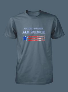 United States Air Force Flag T shirt by WilliamsDigitalStore on Etsy