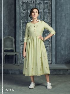 KARMA TUCUTE TC-414 TO TC-419 SERIES DESIGNER OCCASIONAL WEAR AND PARTY WEAR KURTIS AT WHOLESALE PRICE AT DSTYLE ICON FASHION