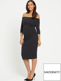 946913d35c59 Rochelle Humes Maternity Bardot Bodycon Dress In a figure-hugging fit that  really lets you