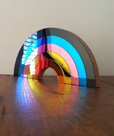 Bride & Wolfe RAINBOW Mirrors are all shining colour and modern design, while evoking breezy memories of seventies and eighties pop culture. Miami Street, Retro Mirror, Rainbow Wall, Art Object, Plexus Products, Pop Culture, Pop Art, Sculpture, Dark