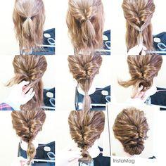 1回目のくるりんぱの下に 小さいくるりんぱを2回やってあるよ☆  #hairarrange #hairstyle #ヘアアレンジ #ヘアアレンジ解説 #ヘアアレンジやり方 #簡単ヘアセット #大人アップ #アップスタイル #アップ #お呼ばれヘア #二次会ヘア #ヘアセット #ゆるアップ#プレ花嫁 #hairset #hair #ヘアアレンジ簡単 #セルフアレンジ#erinaヘア