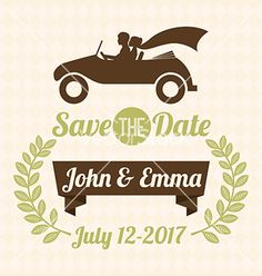 Vintage style wedding monogram border frames symbol vector 39780787 save the date invitation by giusepper on vectorstock stopboris Image collections