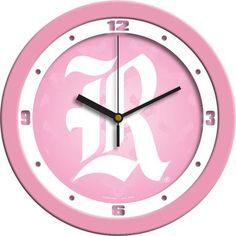 NCAA Rice University Owls Pink Wall Clock