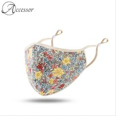Retro Flower Print Face Mask  Price: 40.99 & FREE Shipping
