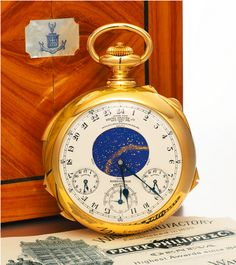 "Most Expensive Watch Ever: $24 Million Patek Philippe ""Henry Graves Supercomplication"" (videos)"