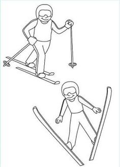 Nordic Combined Colouring Page: Winter Olympic Crafts for Kids. Olympic Colors, Olympic Idea, Olympic Sports, Olympic Games, Nordic Combined, Olympic Crafts, Art Handouts, Freestyle Skiing, Pyeongchang 2018 Winter Olympics