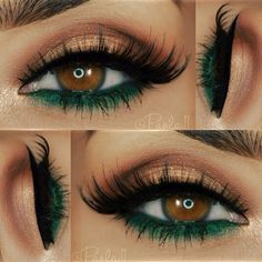 Makeup for brown eyes: the 24 best makeup ideas for brown Make-up für braune Augen: Die 24 besten Make-up-Ideen für braune Augen – Luise.site Makeup – makeup Make-up for brown eyes: The 24 best makeup ideas for brown eyes Luise.site Makeup up - Makeup For Green Eyes, Love Makeup, Makeup Inspo, Makeup Inspiration, Green Eyeliner, Gorgeous Makeup, Fall Makeup, Gorgeous Eyes, Winter Makeup