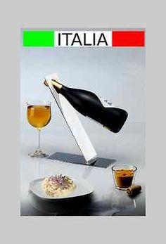 porta bottiglie design acciaio inox MADE IN ITALY tavolo espositore vino tavolo