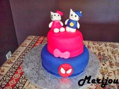 Hello Kitty & Spiderman fondant