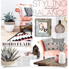 Boho Flair by kearalachelle on Polyvore featuring polyvore interior interiors interior design home home decor interior decorating ferm LIVING John Robshaw Crate and Barrel