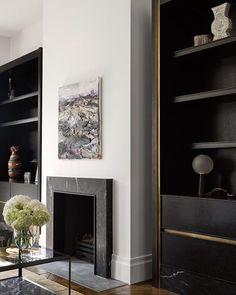 Fireplace mood. Soft modern simplicity.