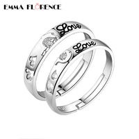 1pair/lot Engagement Couple Rings 925 Sterling Silver Wedding Rings Fashionable 'Dolphin Love' Bridal Women Men Ring with CZ