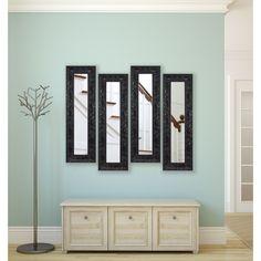 American Made Rayne Black Endicott Panel Mirrors (Set of 2: 10 x 36)