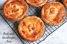 Beef and mushroom pie - The BEST collection of recipes to make in your Pie Maker! – Beef and mushroom pie Mini Pie Recipes, Pastry Recipes, Baking Recipes, Pie Pastry Recipe, Sunbeam Pie Maker, Breville Pie Maker, Steak And Mushroom Pie, Savory Pastry, Savoury Pies