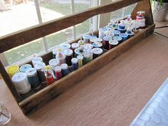 another Tool Box storage idea                                       Sew Many Ways...: Sewing/Craft Room Ideas and Updates...