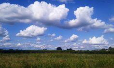 Cielo d'estate nella campagna veneta