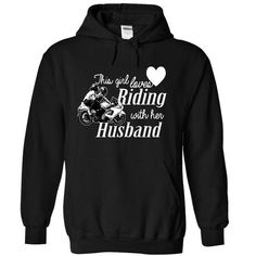 Riding with her husband t shirt - #birthday gift #house warming gift. PRICE CUT  => https://www.sunfrog.com/Birth-Years/Riding-with-her-husband-t-shirt-8011-Black-13284694-Hoodie.html?id=60505