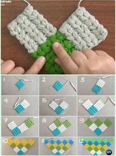 Tutorial Aretes-Pendientes Con Borlas A Crochet - Principiantes - Crochet Gifts - Diy Crafts Tunisian Crochet Patterns, Crochet Stitches Patterns, Crochet Designs, Knitting Patterns, Puff Stitch Crochet, Free Crochet, Diy Crafts Crochet, Crochet Projects, Crochet Tutorial