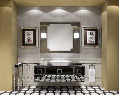 Daphne Collection at the Salone Internazionale del Bagno booth, designed by Massimiliano Raggi.