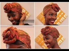 Hair CHALLENGES: Idées coiffure cheveux crépus: Attaché foulard aka Headwrap