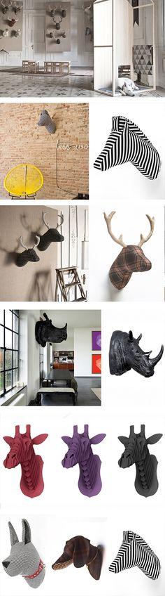 Softheads suaves cabezas de animales para decorar paredes for Trofeos caza decoracion