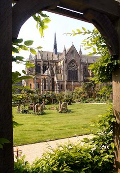 Arundel Cathedral from Castle gardens, West Sussex, England. Arundel Cathedral is considered one of the finest examples of French-Gothic architecture in the UK.  (by Canis Major on Flickr)