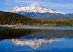 Mount Shasta, CA - camped here for the two week maximum in the park, swam in the lake, ate day-old bagels and pastries for free from the little hippy owned bakery in town...