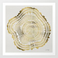 Buy Gold Tree Rings by Cat Coquillette as a high quality Art Print. Worldwide shipping available at Society6.com. Just one of millions of products available.