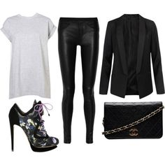 Demi Lovato Outfit // All black everything, except for the shirt. Obvious lol.