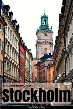 72 Surprising Hours in Stockholm: Stockholm is an amazing city. View 3 day itinerary, attraction links, photo gallery and google map.