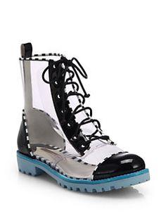 Sophia Webster - Gwen Translucent Lace-Up Ankle Boots