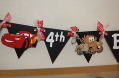 Disney Cars Birthday Banner by ajzdelights on Etsy