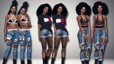 I Sold My Soul to Sims — immortalsims: Tommy Girl Hair [xx] -. Ripped Jeans With Fishnets, Fishnet And Jeans, Sims 4 Cas, Sims 1, Sims 4 Piercings, Poses, Maxis, Sims 4 Black Hair, Sims4 Clothes