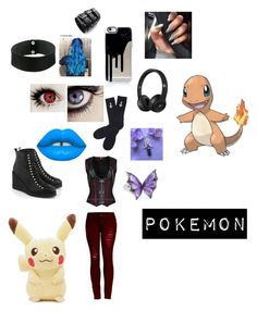 """""""Pokémon RP outfit"""" by dragonheartse on Polyvore featuring Lime Crime, Miista, Abandon Ship, Stephen Webster and Steve Madden"""