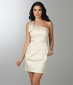 French Connection One Shoulder Bow Dress | Dillards.com