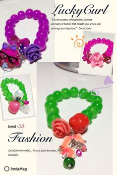 LuckyCurl by ceyda new models... Natural stone bracelets.