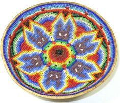 5 1/2 Inch Huichol Bead Bowl