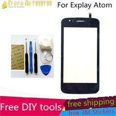 Free DIY Tools+Original New Touch Screen For Explay Atom Glass Capacitive sensor For Explay Atom Touch Screen panel Black #Affiliate