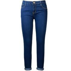 Fuerfits Women's Mid-waist Super Slim Skinny Jeans (6, Blue) at Amazon... ($11) ❤ liked on Polyvore featuring jeans, skinny fit jeans, blue skinny jeans, cut skinny jeans, skinny jeans and slim jeans