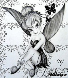 Tink, Tinkerbell, Tinker Bell with butterflies