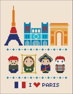 punto croce - Parigi   cross stitch - PAris