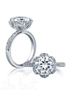 A.JAFFE engagement ring with round center in platinum and white gold I Style: ME1622 I https://www.theknot.com/fashion/me1622-ajaffe-engagement-ring?utm_source=pinterest.com&utm_medium=social&utm_content=june2016&utm_campaign=beauty-fashion&utm_simplereach=?sr_share=pinterest