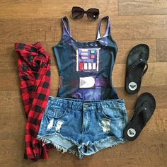 My #SDCC #SDCChic looks. <3   #starwars #darthvader #geekchic #geekfashion #flatlay